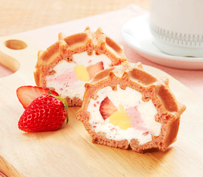 some sort of filled waffle... Japanese cakes