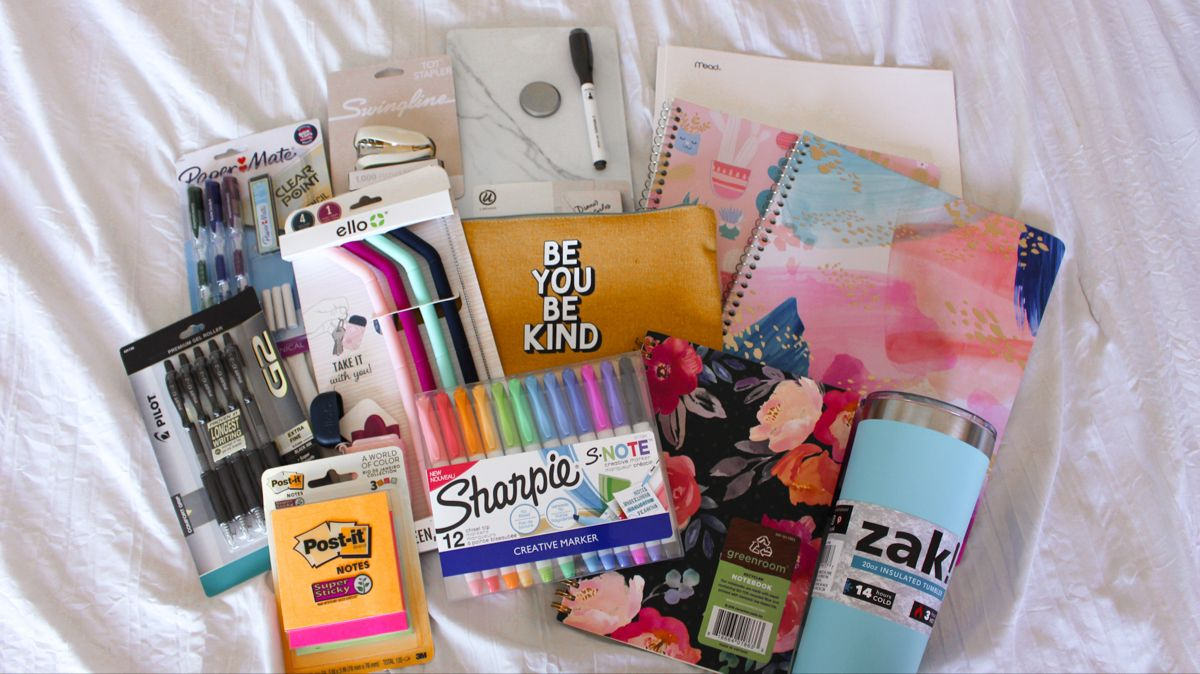 BACK TO SCHOOL SUPPLIES HAUL + GIVEAWAY 2020 | target back to school supply shopping