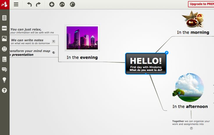 Mindomo mind mapping tool, for all devices and web