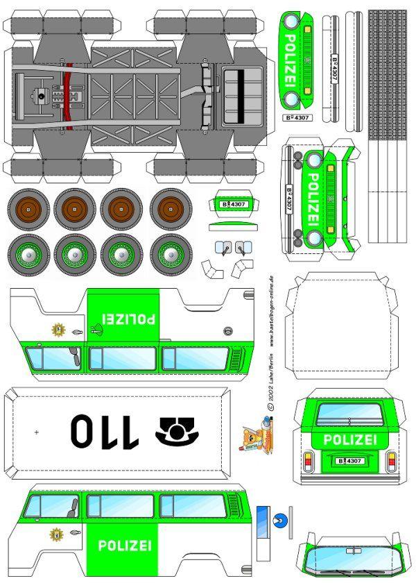 Fahrzeuge – bastelbogen | Karton Modellbau | Pinterest | Bastelbogen ...