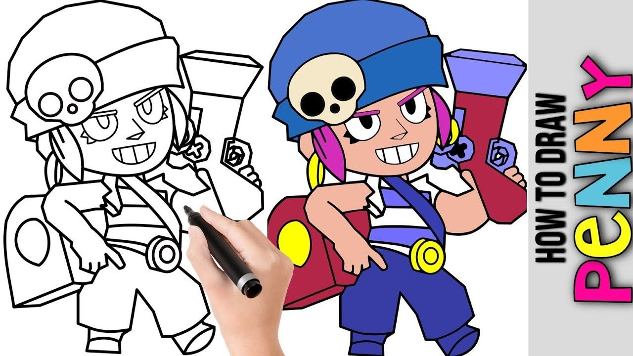 How To Draw Penny From Brawl Stars Cute Easy Drawings Tutorial For Beg Easy Drawings Cute Easy Drawings Drawing Tutorial Easy