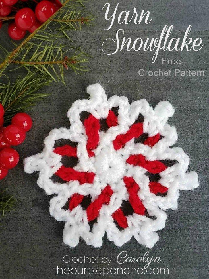 Yarn Snowflake – Free Crochet Pattern | Pinterest | Stern häkeln ...