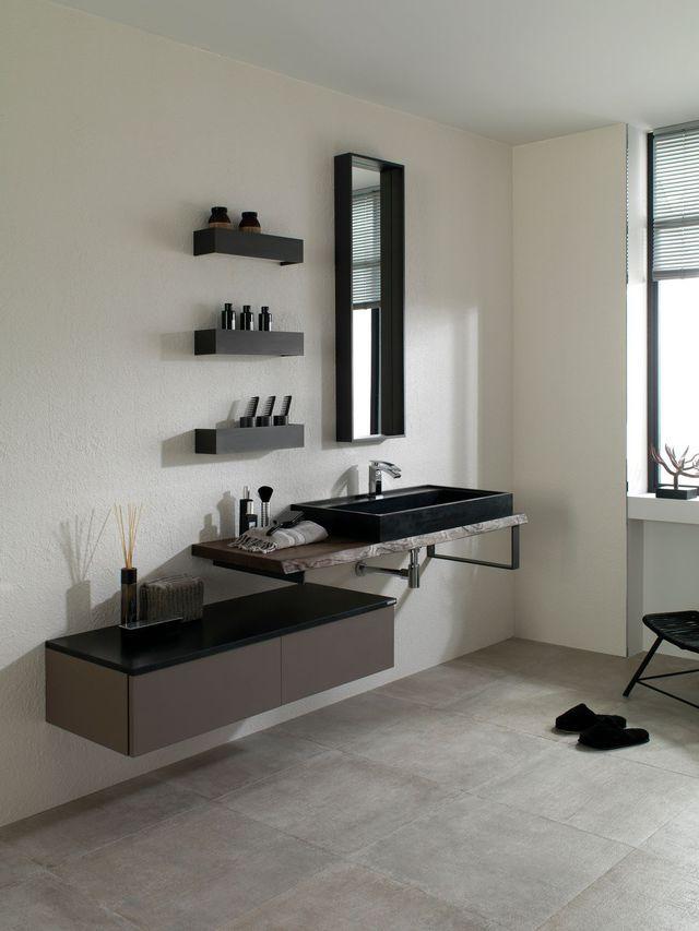 Meuble salle de bain  les nouveautés du moment Kitchen living - salle de bain meuble noir