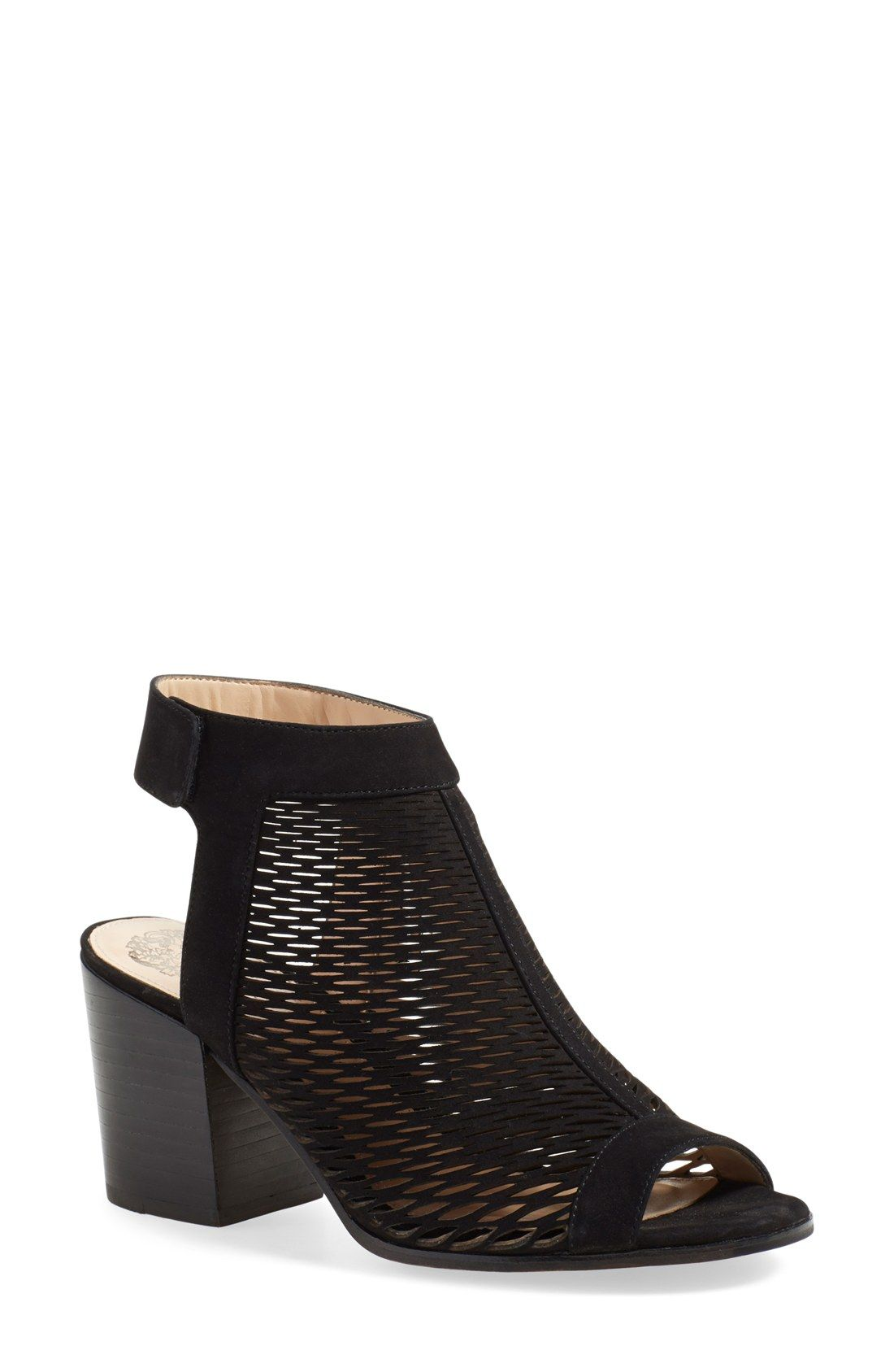 3c68e395092 Vince Camuto  Lavette  Perforated Peep Toe Bootie (Women)