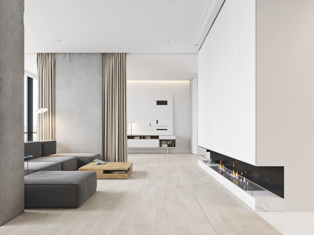 A Minimalist Bachelor Apartment in Montenegro | Kamin design ...