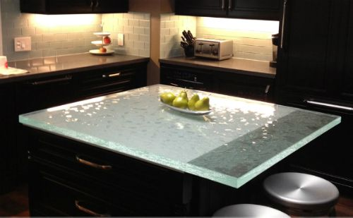 WHOA! What an awesome countertop! It really stands out against the ...