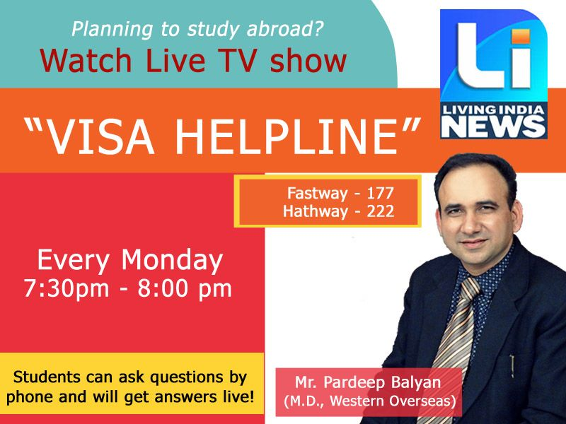 Must watch live tv show visa helpline by mr must watch live tv show visa helpline by mr pardeep balyan students can ask question by phone will get answer live today at 73 publicscrutiny Images