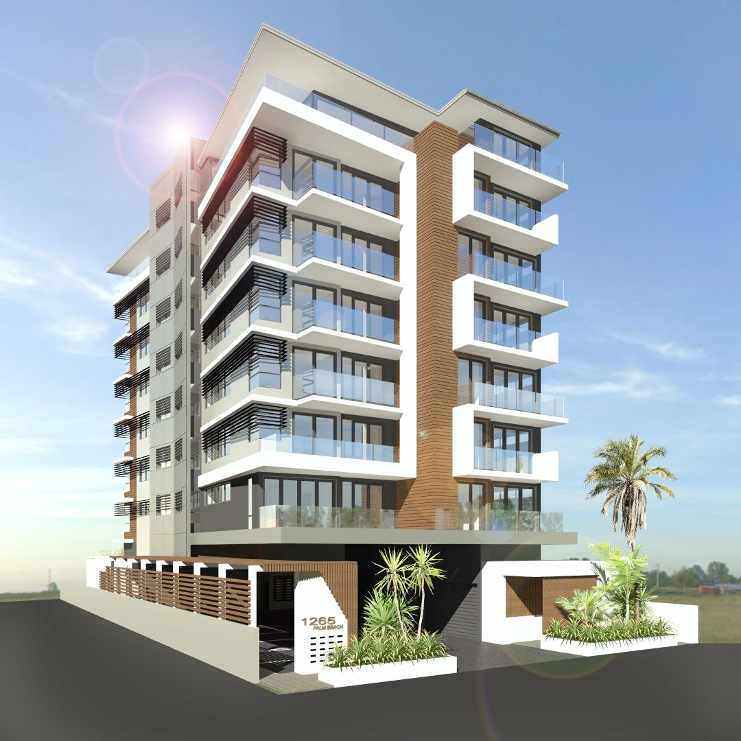 Acreage Home Design Gold Coast: 7 Storey Apartment Unit On The Busy Gold Coast Highway