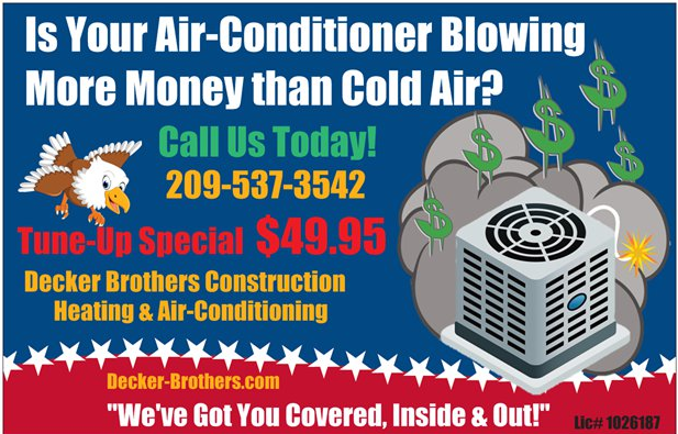 Beat the heat and tune your AC up today! Heating and air