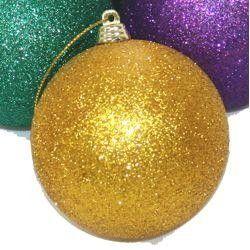 Purple Decorative Balls 60Mm Glittered Purplegreengold Ornaments Balls  Mardi Gras And