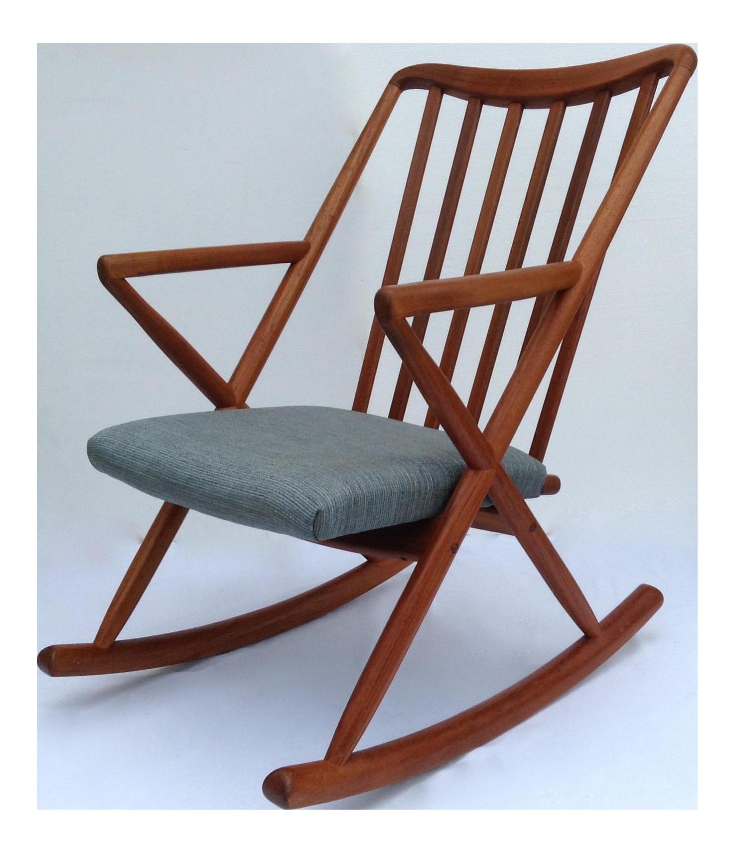 chair mid norwegian century chairish product rocking