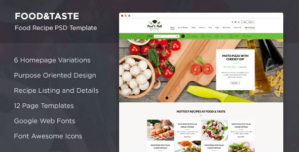 Food taste recipe psd template taste recipe psd templates and food taste recipe psd template by suniljoshi food taste is awesome psd template for your food recipe related website its clean and fresh design makes forumfinder Images