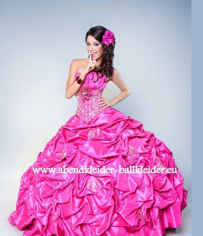 Bodenlanges Abend - Ballkleid Brautkleid Online in Pink | Womens ...