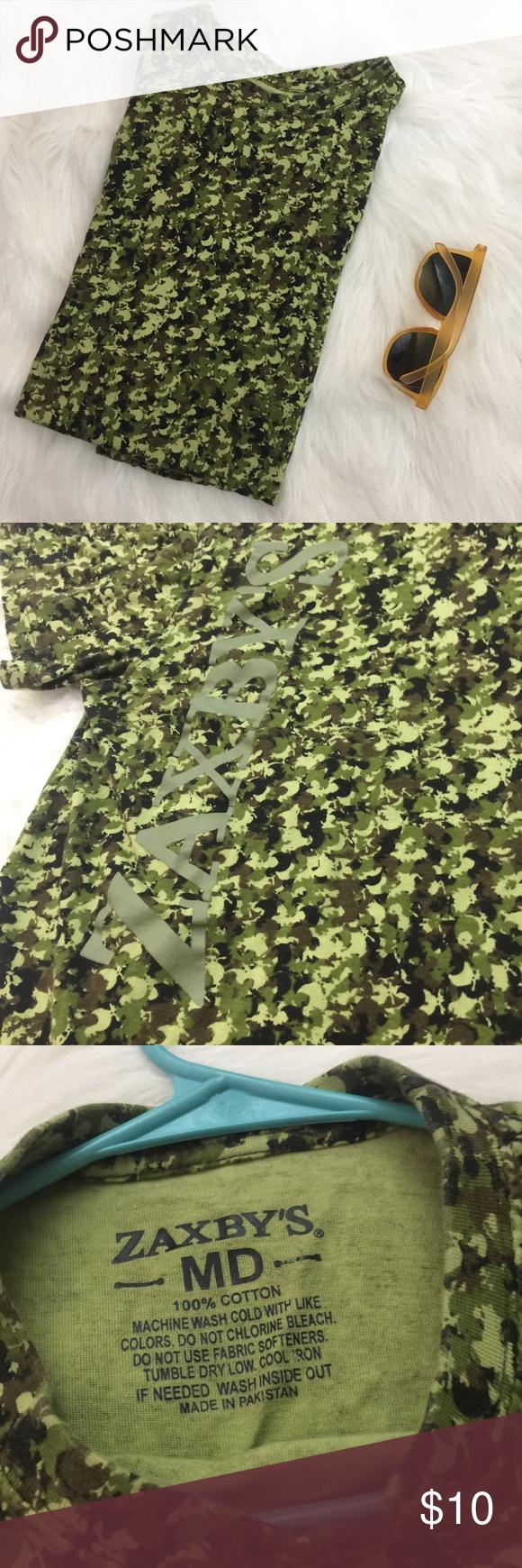 Zaxby's camo tee 🐓 chicken camoflage pattern Chicken