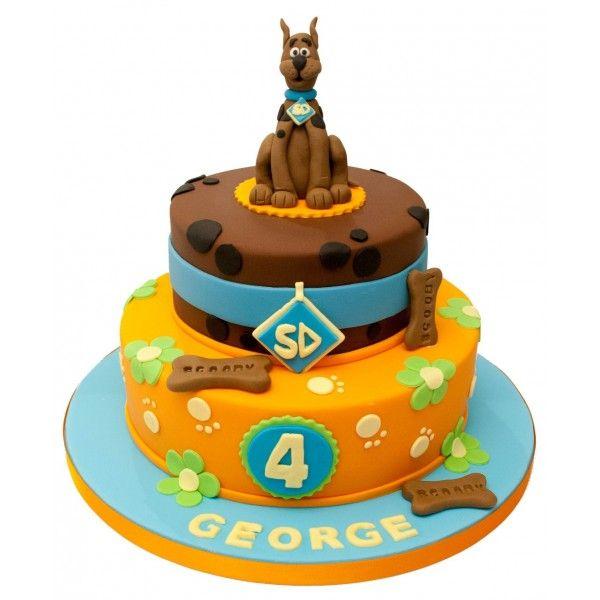 Scooby Doo 2 Tier Birthday Cake Tiered birthday cakes Birthday