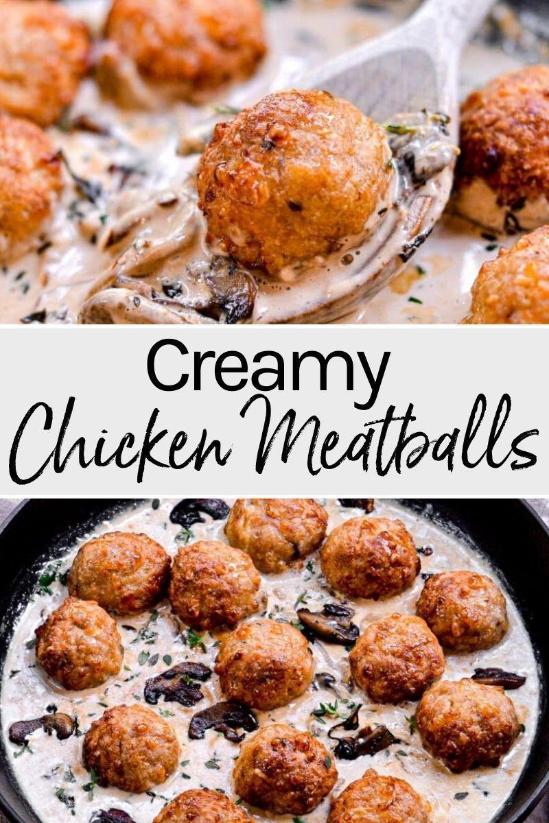 Creamy Chicken Meatballs Recipe Creamy chicken, Yummy