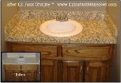 bathroom option?gold granite contact paper