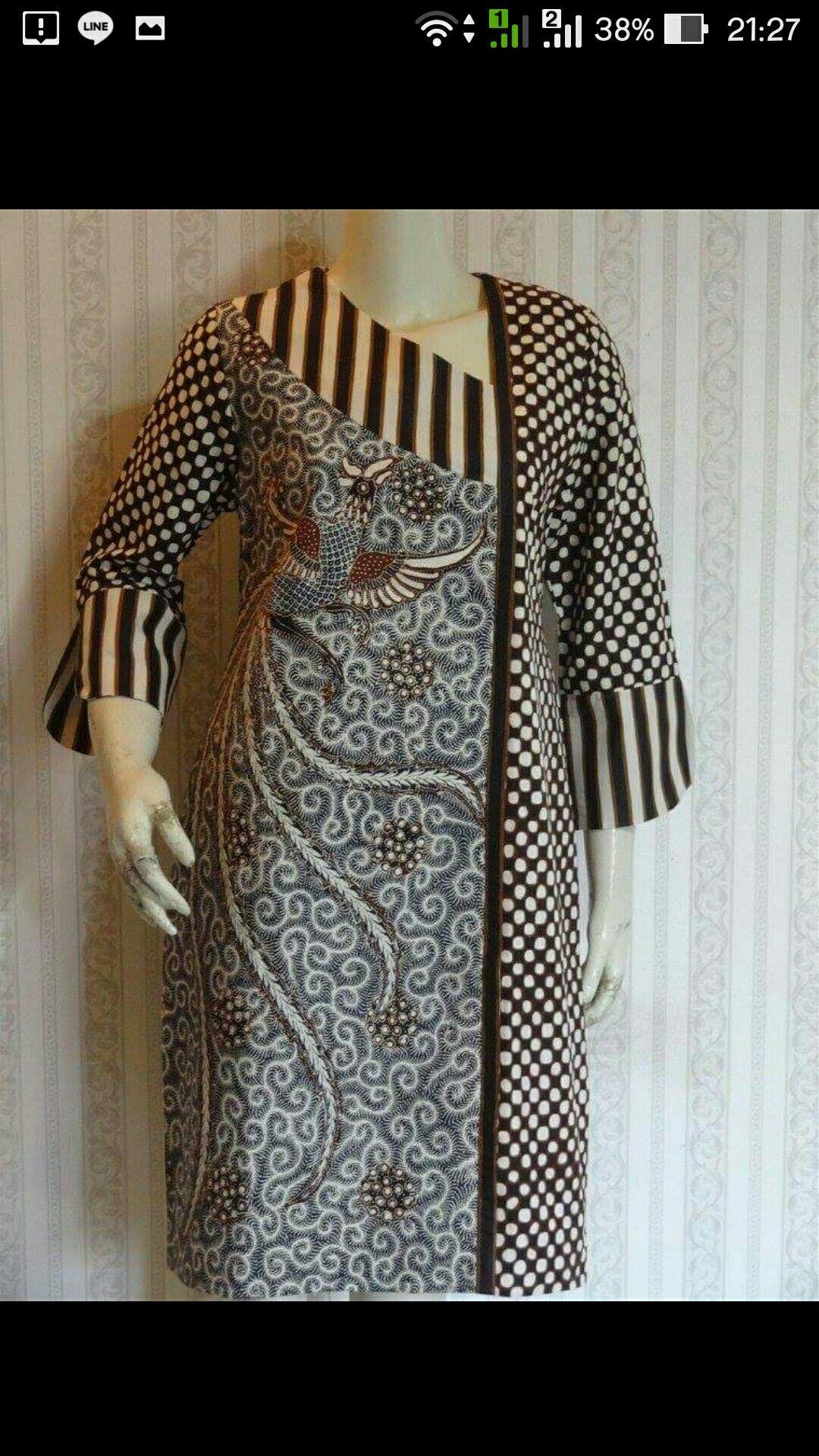 Kombinasi  Desain blus, Model pakaian guru, Model pakaian