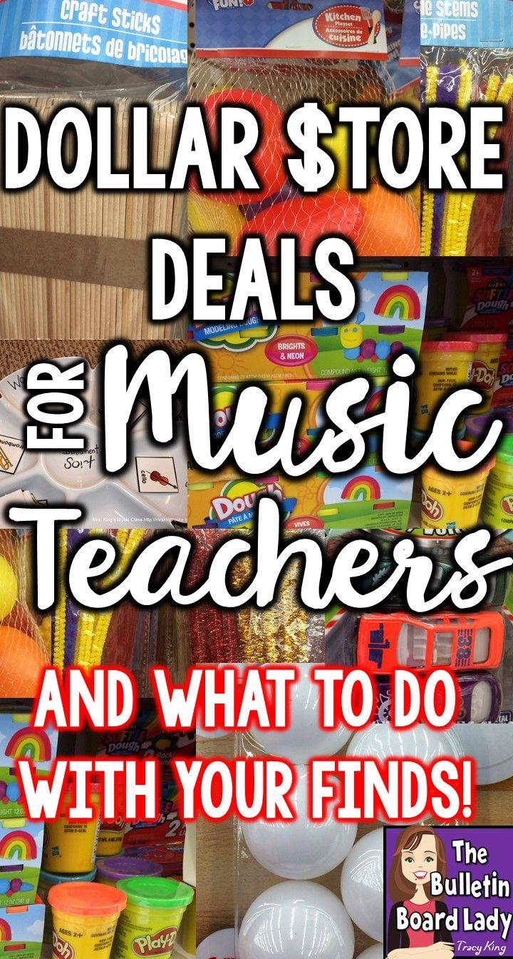 Dollar Store Deals for Music Teachers | Music teachers, Dollar ...