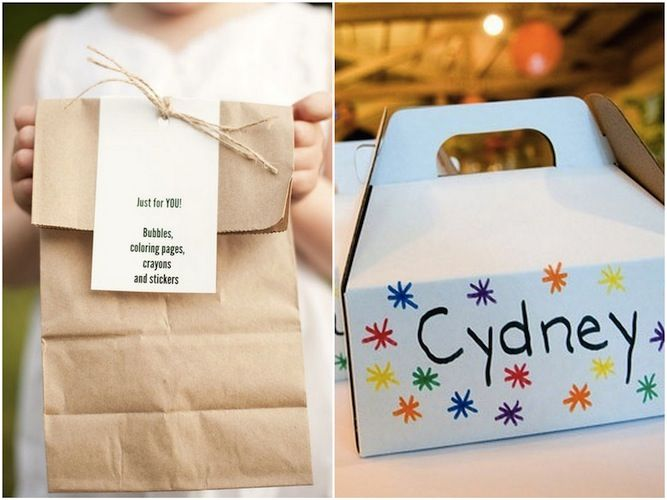 Ideas For The Kids Activity Box Bag Etc At Wedding