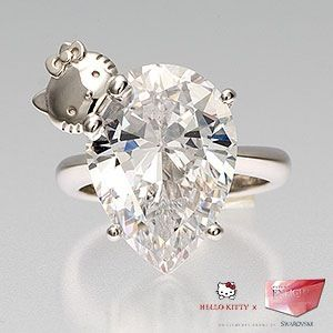 Diamond ring with Hello Kitty