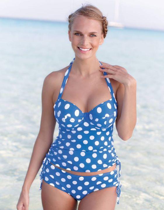 8d602be255 Bravissimo Bright-on Spot Tankini Top in Blue / White Spot #Tankinis  #SwimwearHeaven