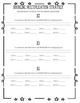 49++ Multiplication worksheets doubles Images