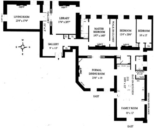 Floor Plan For Unit 67 Inside The Dakota Apartment Building Central Park West New York City It S So Intriguing And Unique That No Two Plans Are