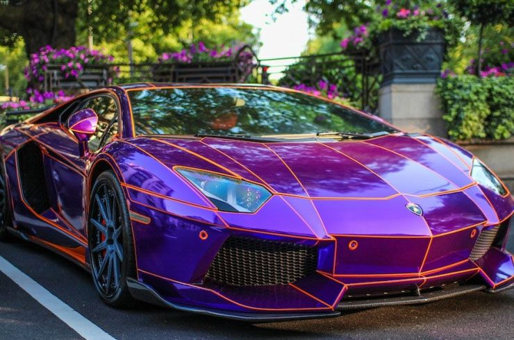iridescent vinyl wrap Sports cars