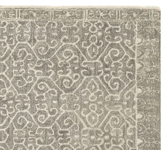 Luna Tonal Tufted Rug - Gray