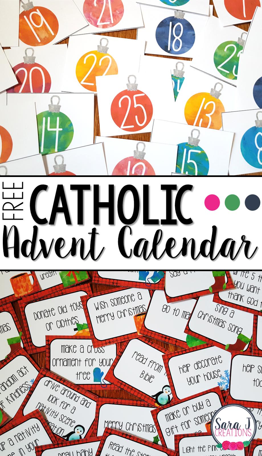 Advent printable. Free catholic calendar
