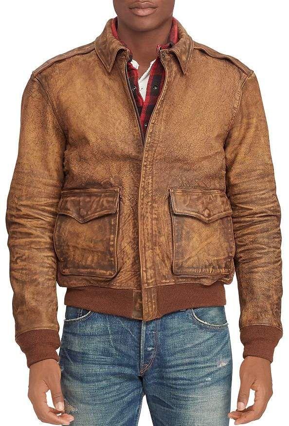 Polo Ralph Lauren A2 Leather Bomber Jacket メンズボンバージャケット