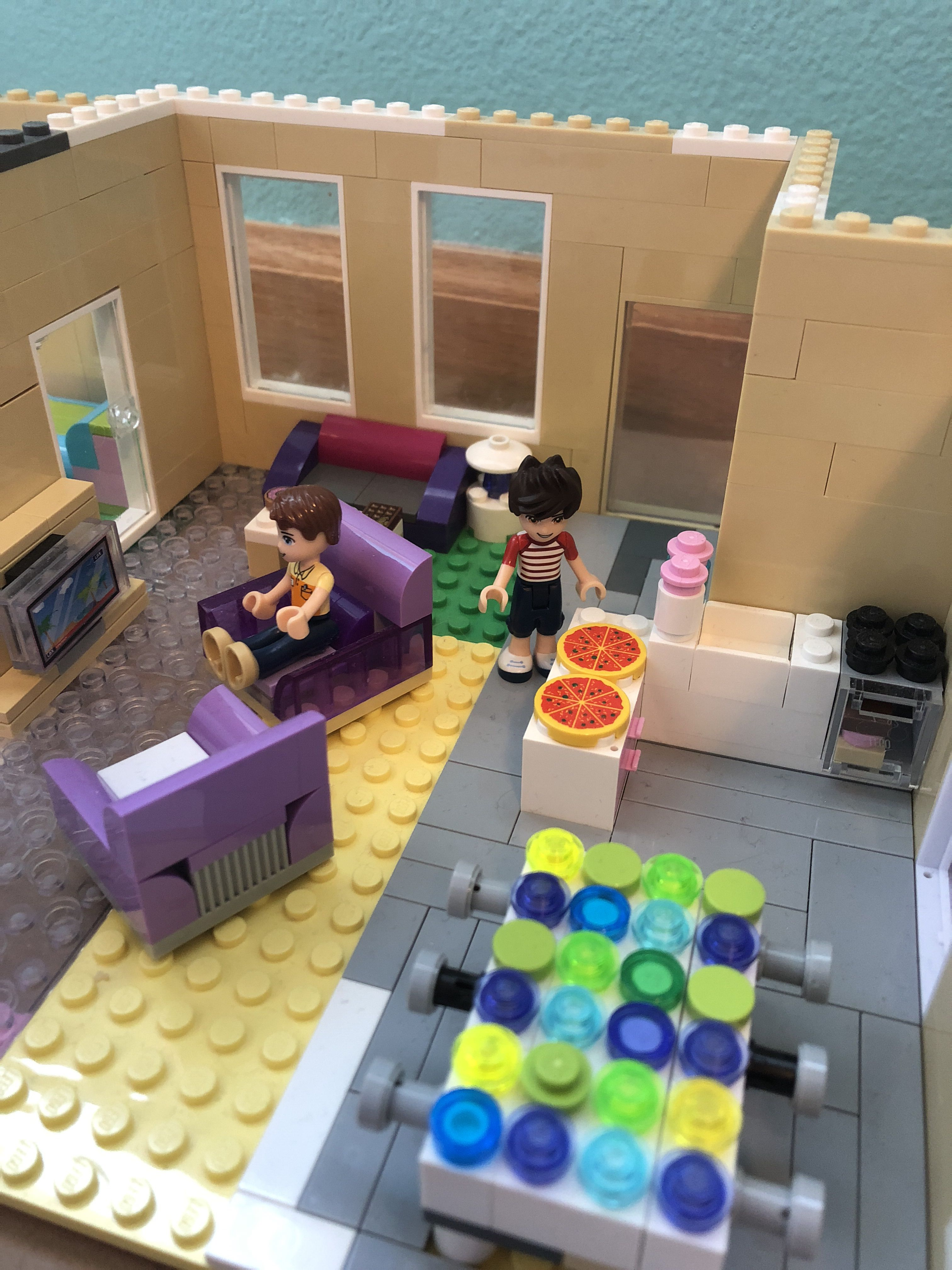 Friends Joey And Chandler S Apartment Original Creation By Me Cool Lego Legos Lego