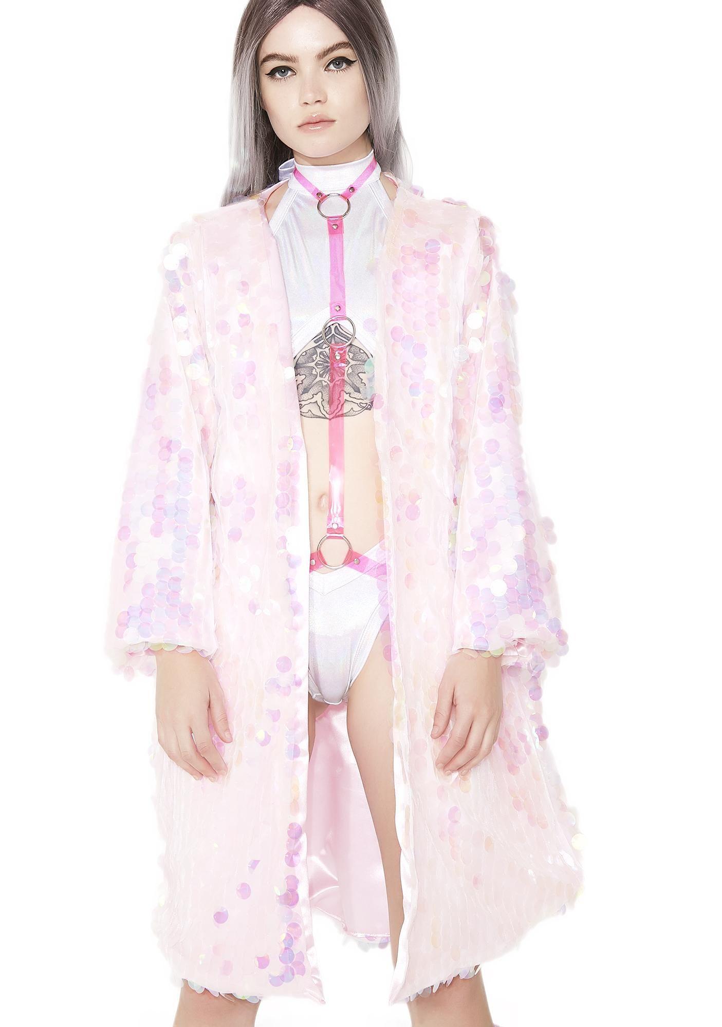 23723da47 B Glittz Eggshell Iridescent Kimono got yew glowin' brighter than da rest,  bb.