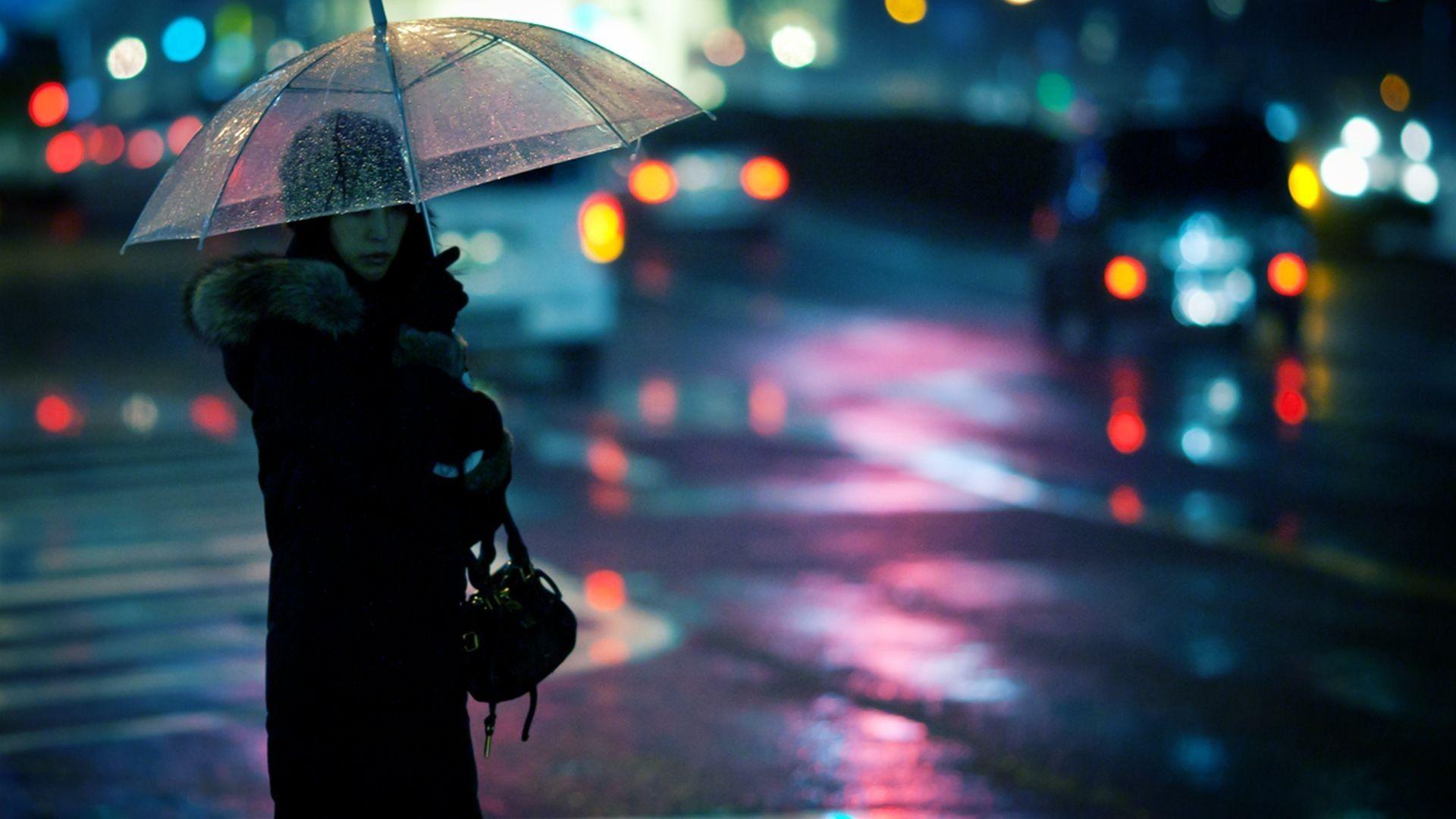 Women Cityscapes Rain Outdoors Traffic Lights Bokeh Umbrellas Fresh New Hd Wallpaper Jpg Rain Wallpapers Rain Photography Rain Art