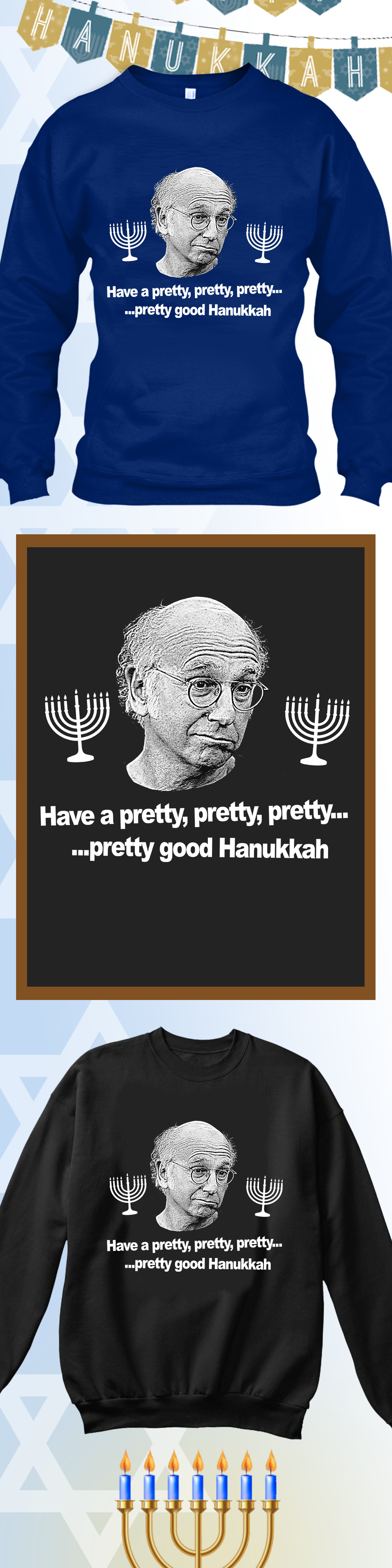 Larry David Hanukkah In 2018 Ugly Christmas Sweaters Pinterest