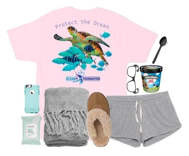 """read d!"" by pineappleprincess1012 ❤ liked on Polyvore featuring Guy Harvey, American Vintage, H&M, UGG Australia, Menu, Sephora Collection and OtterBox"