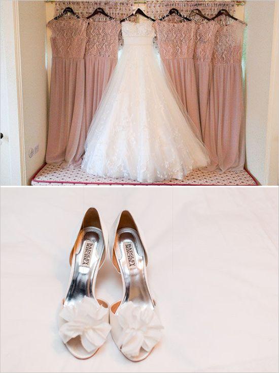 white and pink wedding ideas | elegant wedding heels | bridesmaids dresses | #weddingchicks