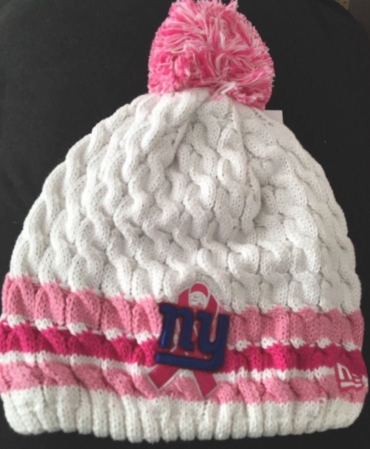 fa2b1416f31 ... sweden new era new york giants nfl women 039 s breast cancer awareness  knit beanie hat