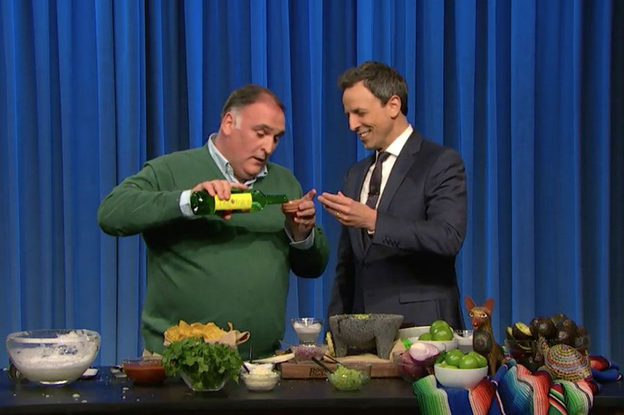 Amazing time on Late Night with Jose Andres and Seth Meyers!