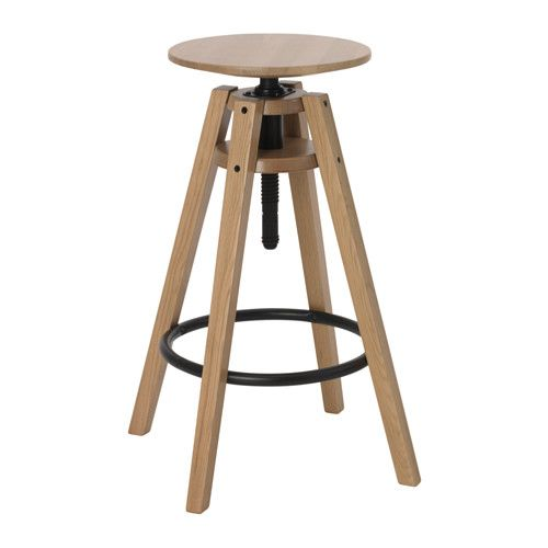 ikea bengterik bar stool oak cm easy to adjust in heights with only