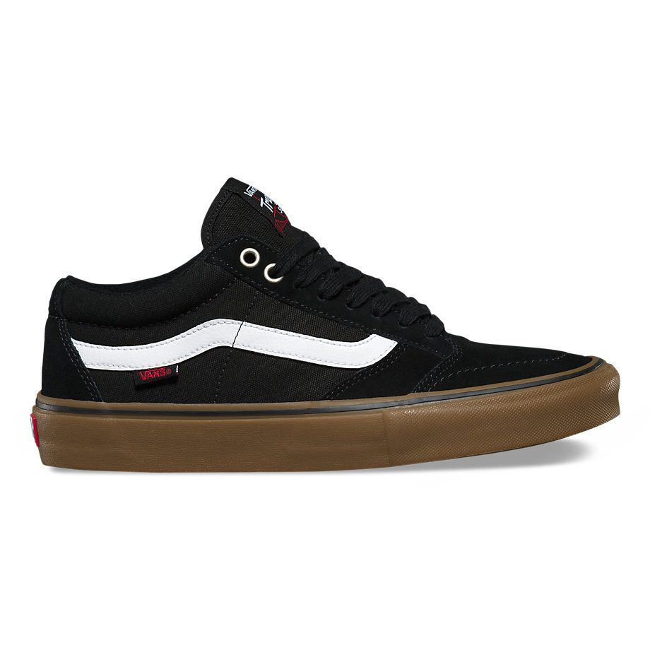 a8f7b77cd1 Vans Men s TNT SG Shoes - Black White Gum
