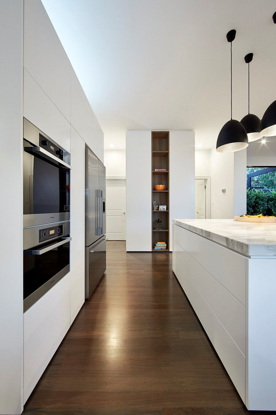 Küche Modern Side By Side Love The Floor Colour And Also How The Bench Top Is Formed Just
