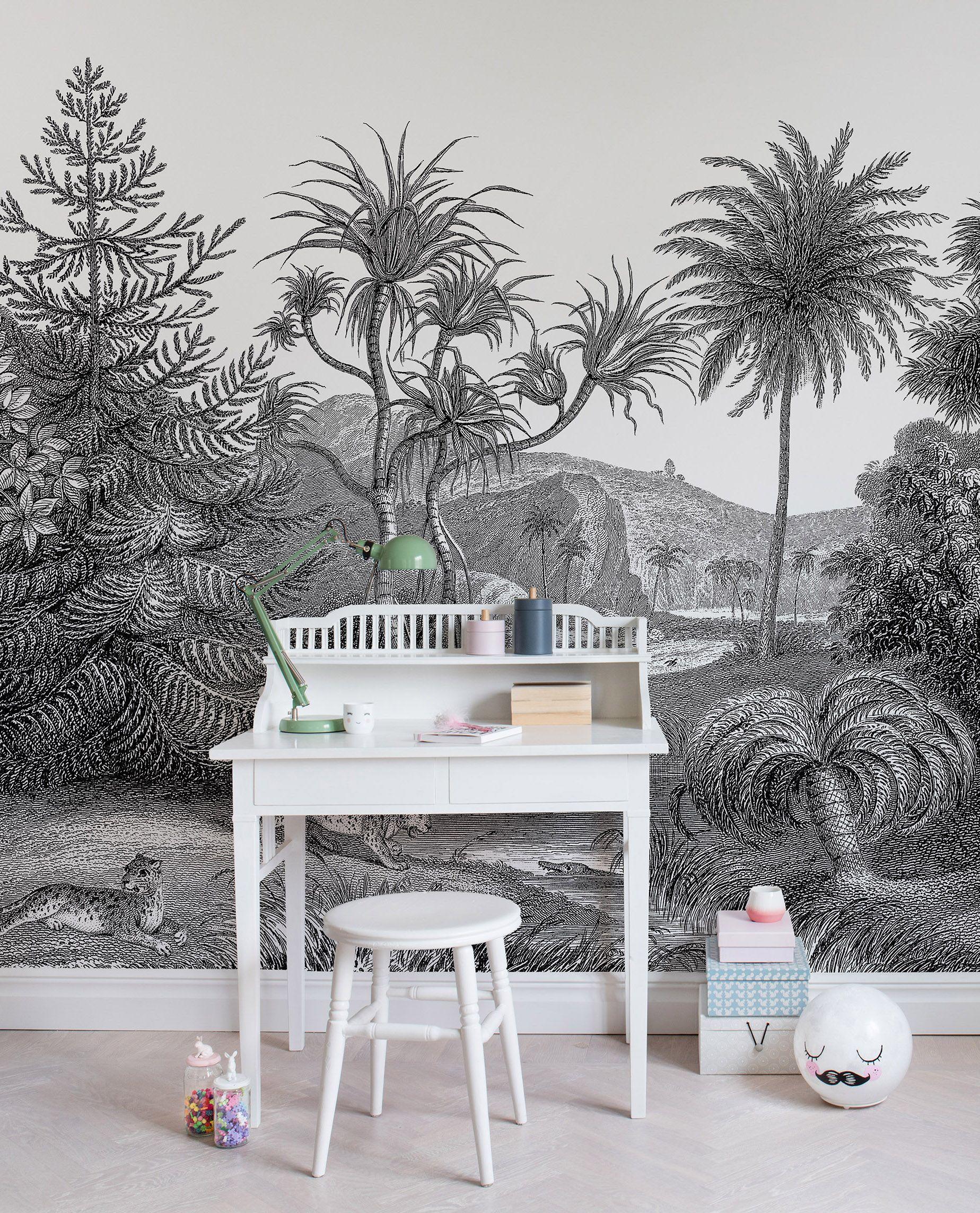 Kinderzimmer wandfarbe jungle land in   tapeten fürus kinderzimmer  pinterest