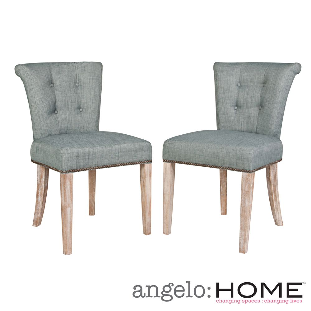 Angelo Home Lexi Paris Sky Blue Dining Chairs Set Of 2