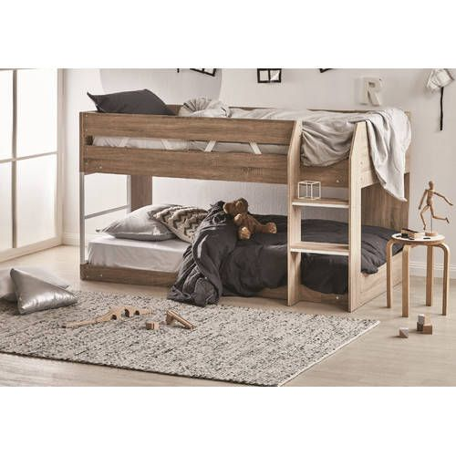 Best Vic Furniture Oak Grace Low Line Single Bunk Bed Bunk 400 x 300