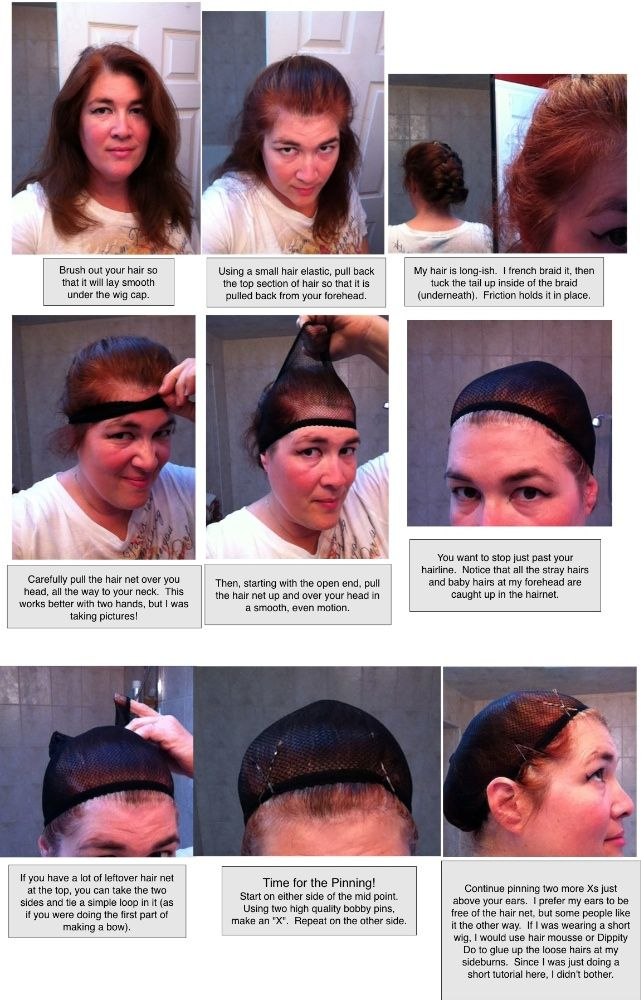 f5330b14a95 A picture tutorial on how to wear a mesh wig cap. I like the pointers she  gives on placement