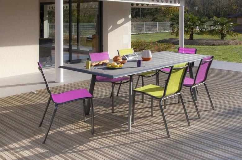 Salon de jardin Lize avec chaises Linéa - Proloisirs   SALON DE ...