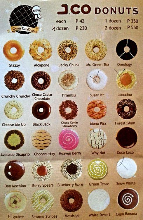 Donut Flavors Available Donat Isi Makanan Seni Makanan