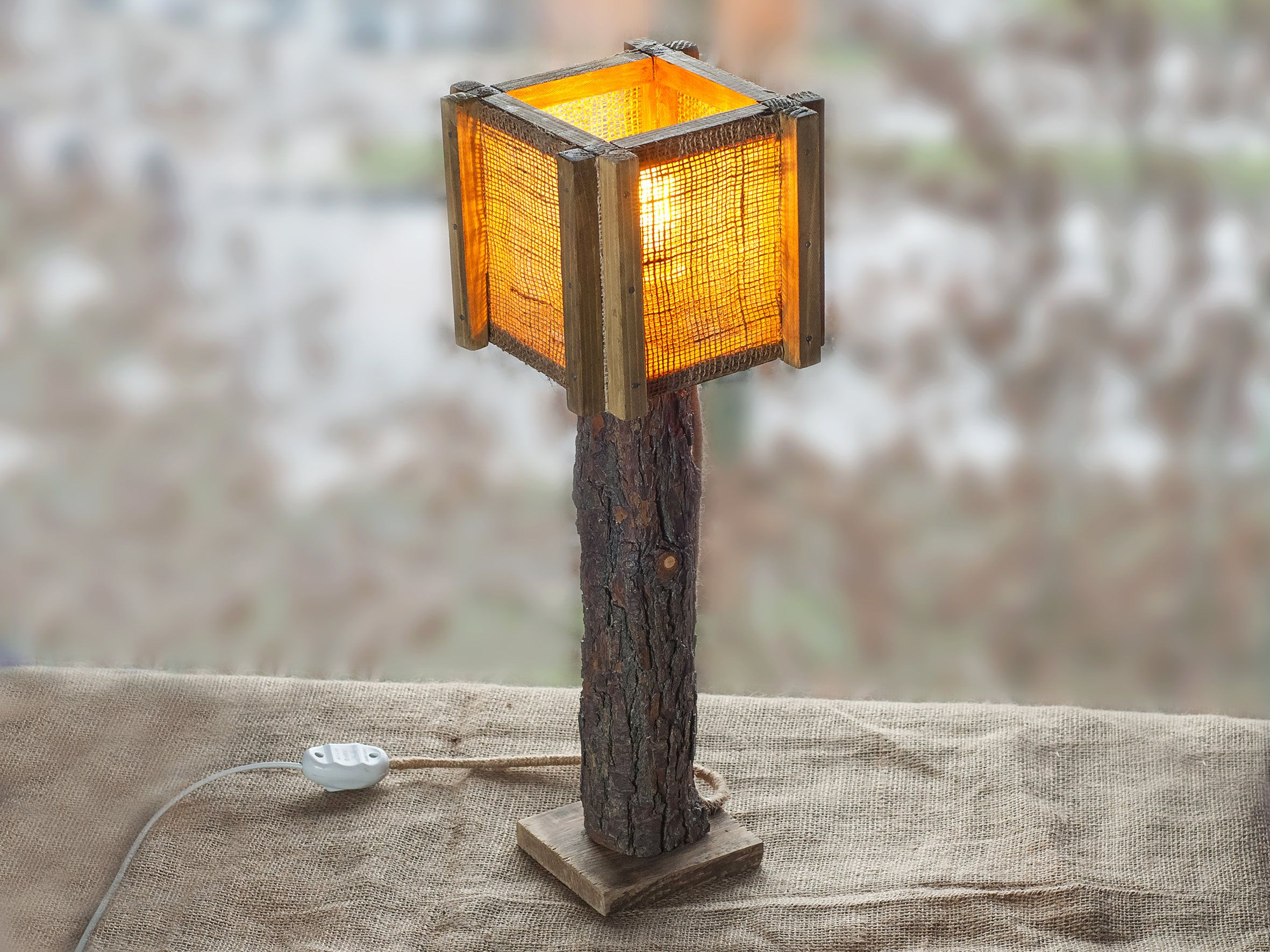 Burlap table lamp woodlamp driftwood lamp lamps lampshades burlap table lamp woodlamp driftwood lamp lamps lampshades burlap aloadofball Image collections